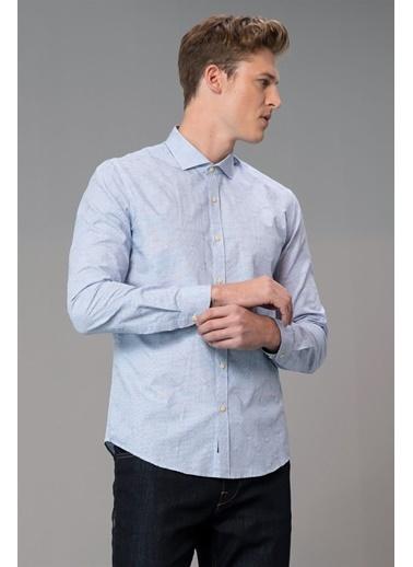 Lufian Helıo Smart Gömlek Slim Fit Saks Saks